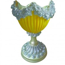 Vas Bunga Blewah Mawar Dengan Lampu Bahan Fiber
