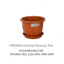 Pot Bunga Taman Greenleaf Type  VIENNA Orchid Flowery Pot