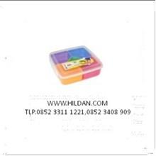 Lunch Box Kotak Makan  5 Sekat warna menarik Greenleaf
