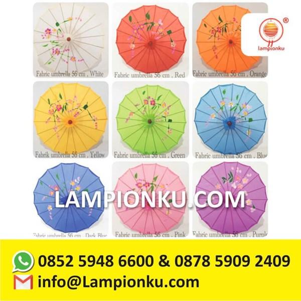 Payung China Kain Satin Impor