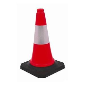 Traffic Cone Pembatas Jalan 70 cm Plastik