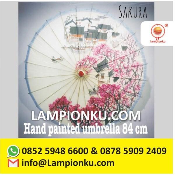 Payung Hias Dekorasi Jepang Motiv SAKURA