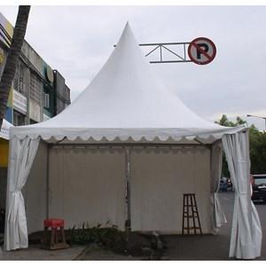 Tenda Bazar Kerucut Sarnafil Full Dinding