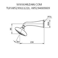 Sell Fixed Shower Head (3S Soft) Brand TOTO TX422SC 2