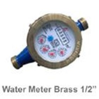 Water Meter Merk AMICO Model Brass Small Ukuran Setengah