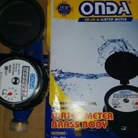 Water Meter Merk ONDA Type Brass SNI  Ukuran 3 . 4 di Aceh
