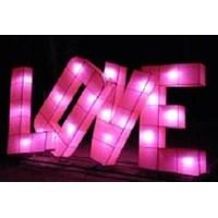 Lampion Karakter Tulisan LOVE  1