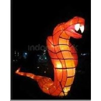 Production of Snake Character Lanterns