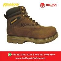 Sepatu Safety Merk KRISBOW VULCAN BROWN -Cokelat 6 Inch