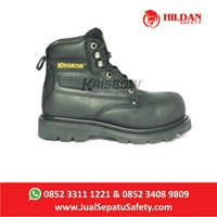 Jual Safety Shoes KRISBOW VULCAN BLACK - Hitam 6Inch Baru 2