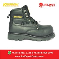 Safety Shoes KRISBOW VULCAN BLACK - Hitam 6Inch Baru 1