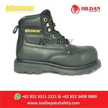 Safety Shoes KRISBOW VULCAN BLACK - Hitam 6Inch Baru