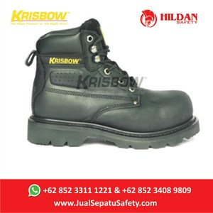 Safety Shoes KRISBOW VULCAN BLACK - Hitam 6Inch Baru