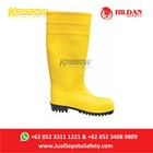 Safety Shoes KRISBOW Boots PVC - Yellow di Jakarta 1