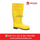 Safety Shoes KRISBOW Boots PVC - Yellow di Jakarta 2
