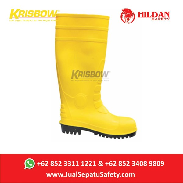 Safety Shoes KRISBOW Boots PVC - Yellow di Jakarta
