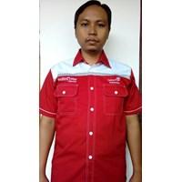 Jual  Baju Seragam Kerja TELKOM INDI HOME Merah Terbaru