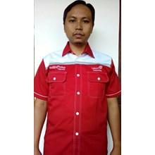 Baju Seragam Kerja TELKOM INDI HOME Merah Terbaru