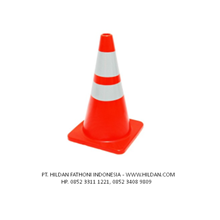 Alat Pembatas Jalan Traffic Cone UK.90 cm Base Orange