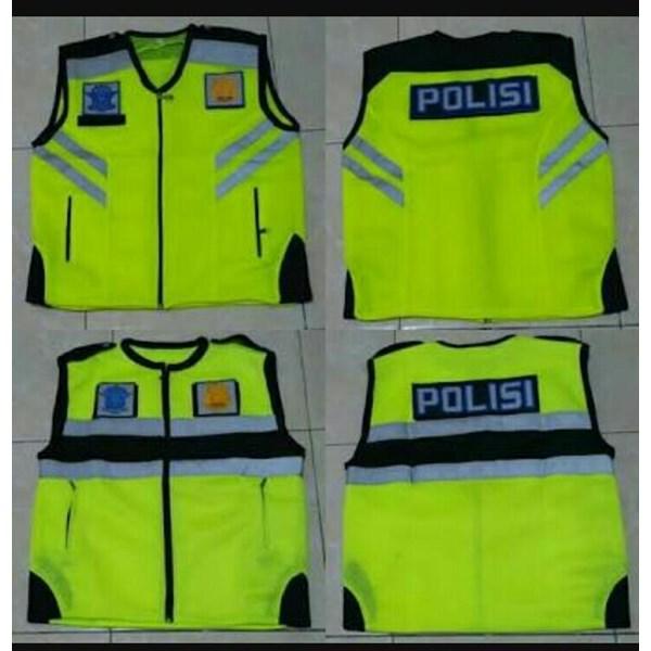Rompi Polisi Hijau Bahan Taslan di Surabaya
