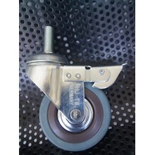 Caster Wheel 4 Fix Castor Warna Abu - Abu dengan Brake - Rem Terbaik - Surabaya