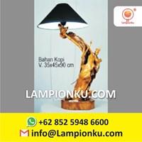 Pengrajin Lampu Hias Kayu Kopi MURAH Surabaya