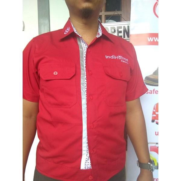 Baju Kerja - Baju Kantor Seragam TELKOM IndiHome Fiber Model TER-BARU Murah
