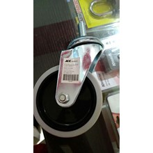Roda Tanpa REM - Roda Trolley Diameter 10 ml Bahan Rubber