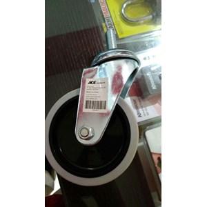 Roda Tanpa REM - Roda Trolley Diameter 10 ml Bahan Rubber