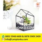 Terrarium Pot Tanaman Kaca Rangka Kuningan Surabaya  1