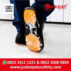 From  Sepatu Koki Dapur - Safety Shoes Merk STICO Sepatu Chef Warna Hitam NEC03 4