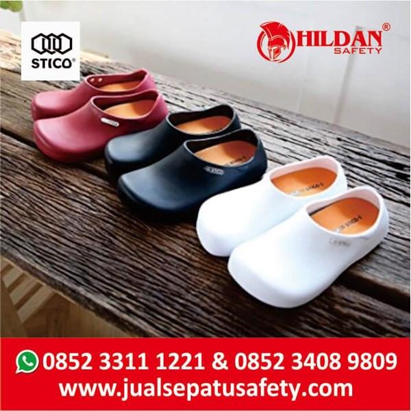Sepatu Koki Dapur - Safety Shoes Merk STICO Sepatu Chef Warna Hitam NEC03