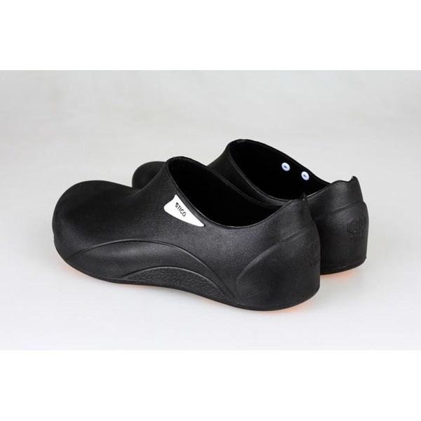Sepatu Safety Shoes Chef Clog Merk STICO Anti Slip Warna Hitam NEC - 05