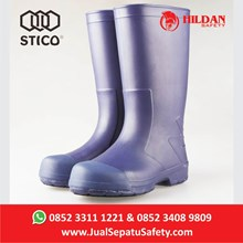 Sepatu Safety Boots with Toe Cap STICO - WBM 12 - Navy Anti Slip