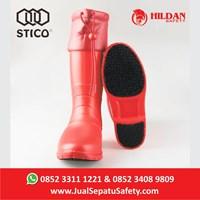 Jual Sepatu Koki Boots STICO WBM 21 - Red Cold Storage 2