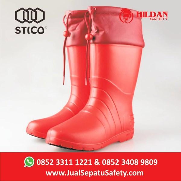 Sepatu Koki Boots STICO WBM 21 - Red Cold Storage