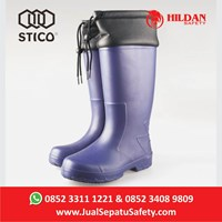 Distributor Safety Shoes Boots STICO WBM 22 - Navy with Cuff Cold Storage  3