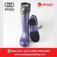 Safety Shoes Boots STICO WBM 22 - Navy with Cuff Cold Storage  1