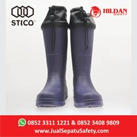 Jual Safety Shoes Boots STICO WBM 22 - Navy with Cuff Cold Storage  2