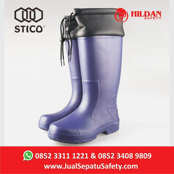 Safety Shoes Boots STICO WBM 22 - Navy with Cuff Cold Storage
