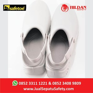 Sepatu Safety Merk Safetoe Debra White NEW - L 7096 Putih