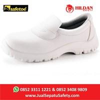 Jual Sepatu Safety Safetoe Draco White - L-7019 Putih Baru 2