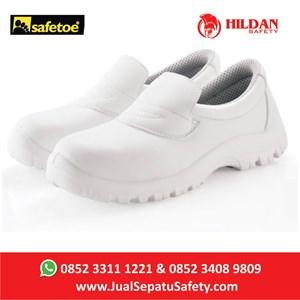 Sepatu Safety Safetoe Draco White - L-7019 Putih Baru