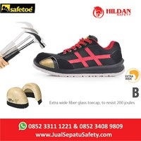 Beli Safety Shoes Sport Safetoe BETEL GEUSE - Type L 7329 Merah 4