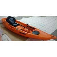 Perahu Kayak Single Warna Orange PK - 01 Lokal