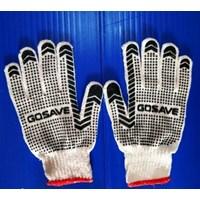 Safety Gloves Sarung Tangan Kain Bintik Polkadot Merk GOSAVE Hitam
