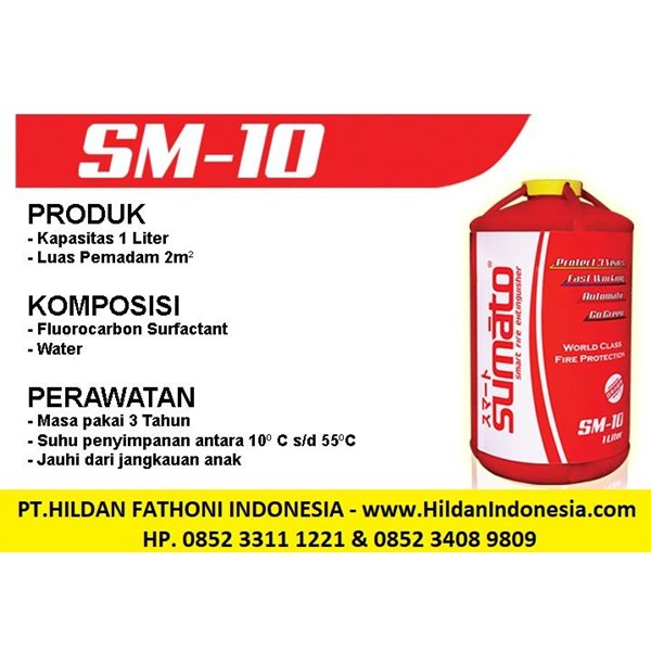 Sell SUMATO Brand Fire Extinguisher Type SM-10 Automatic