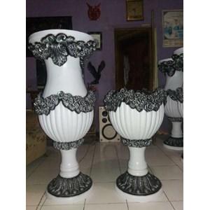 Dekorasi Bunga Vas Bunga Fiber Dekorasi Pelaminan