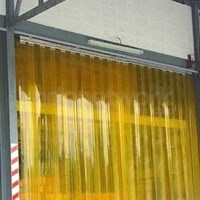 Tirai Plastik Curtain Kuning Ukuran 1 x 2 meter - Ketebalan 3 mm