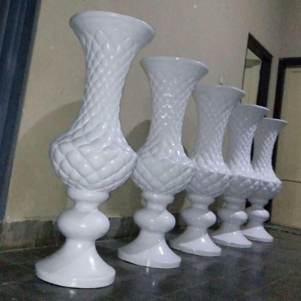 Harga Vas Bunga/Pot Fiber Untuk Dekorasi Pelaminan Di Depok
